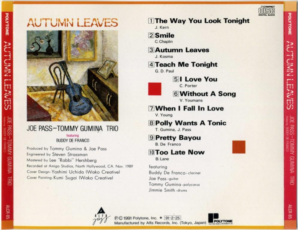 joe pass autumn leaves pdf