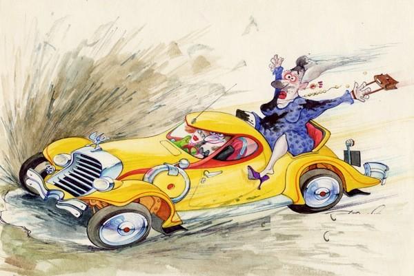 Смешные автомобили рисунки
