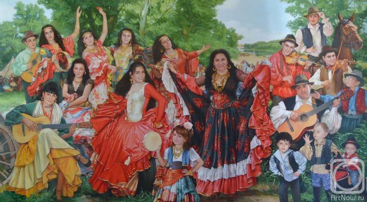 Одеялом, цыганский табор картинки красивые нарисованные